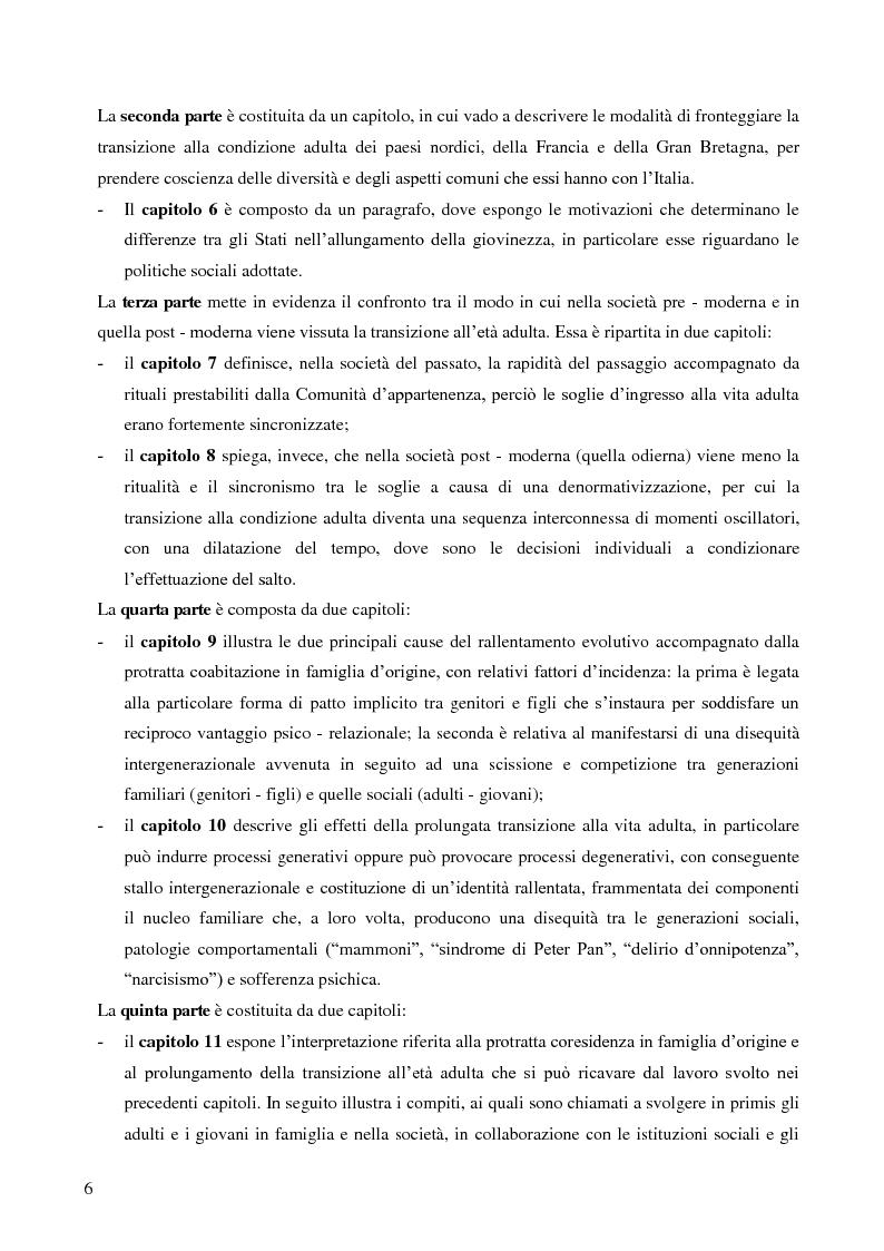 Anteprima della tesi: La lunga transizione familiare all'età adulta, Pagina 4
