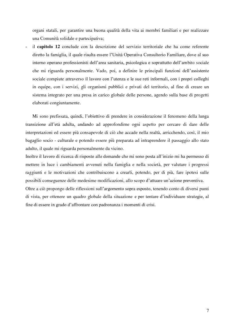 Anteprima della tesi: La lunga transizione familiare all'età adulta, Pagina 5