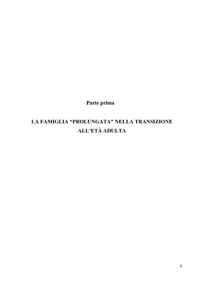 Anteprima della tesi: La lunga transizione familiare all'età adulta, Pagina 7