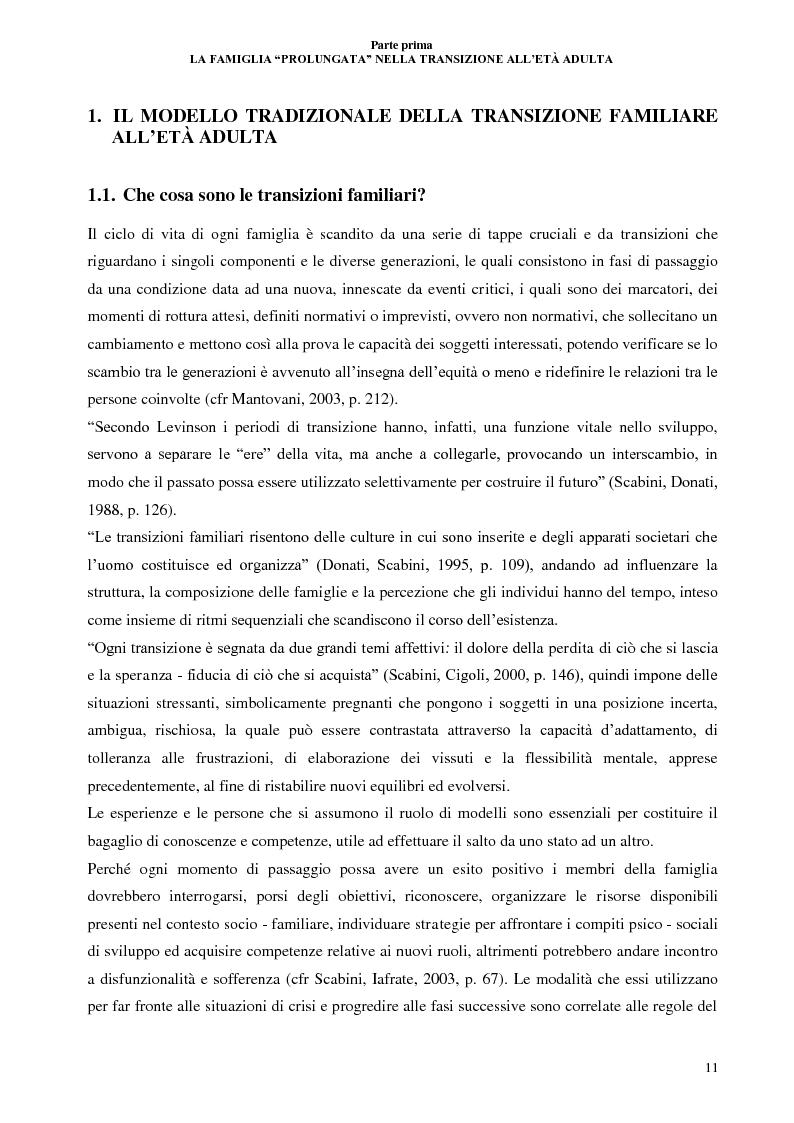 Anteprima della tesi: La lunga transizione familiare all'età adulta, Pagina 9