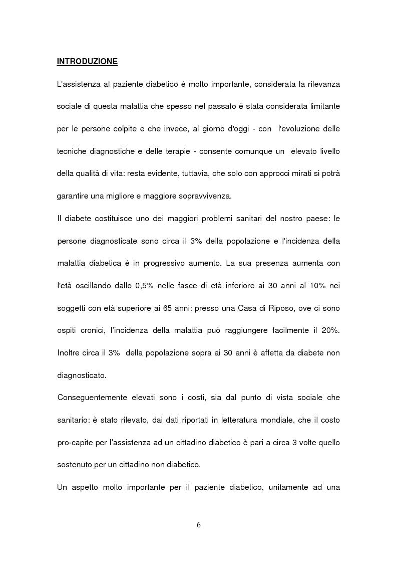 Anteprima della tesi: La gestione del paziente diabetico: ruolo educativo dell'infermiere operante presso la Casa di Riposo di Corbola (Ro), Pagina 2