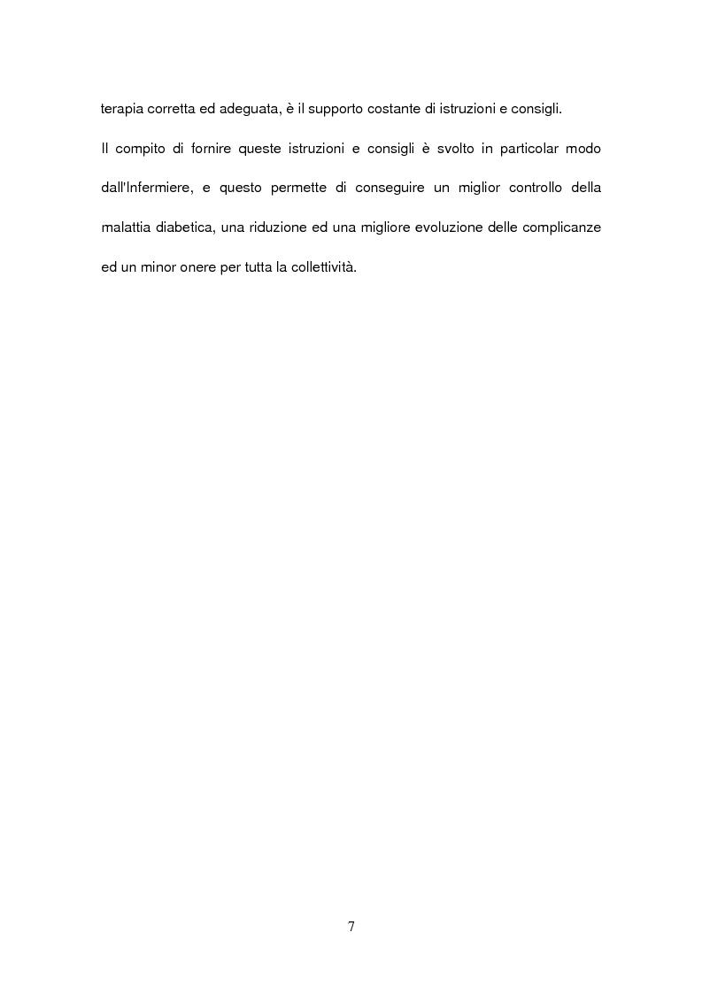 Anteprima della tesi: La gestione del paziente diabetico: ruolo educativo dell'infermiere operante presso la Casa di Riposo di Corbola (Ro), Pagina 3