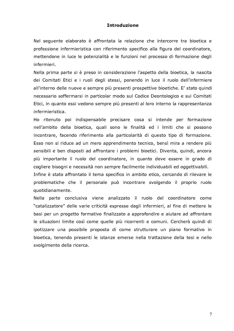 Anteprima della tesi: L'infermiere e le sfide della bioetica: quale formazione?, Pagina 1