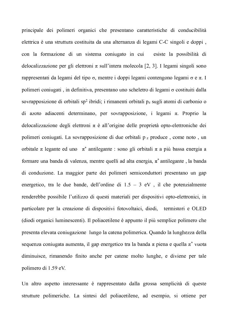 Anteprima della tesi: Nuovi polimeri contenenti eterocicli per potenziali applicazioni in elettronica e fotonica, Pagina 2