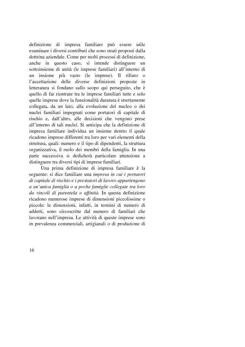 Anteprima della tesi: Il passaggio generazionale nel family business. Strumenti tecnico-giuridici e finanziari, Pagina 14