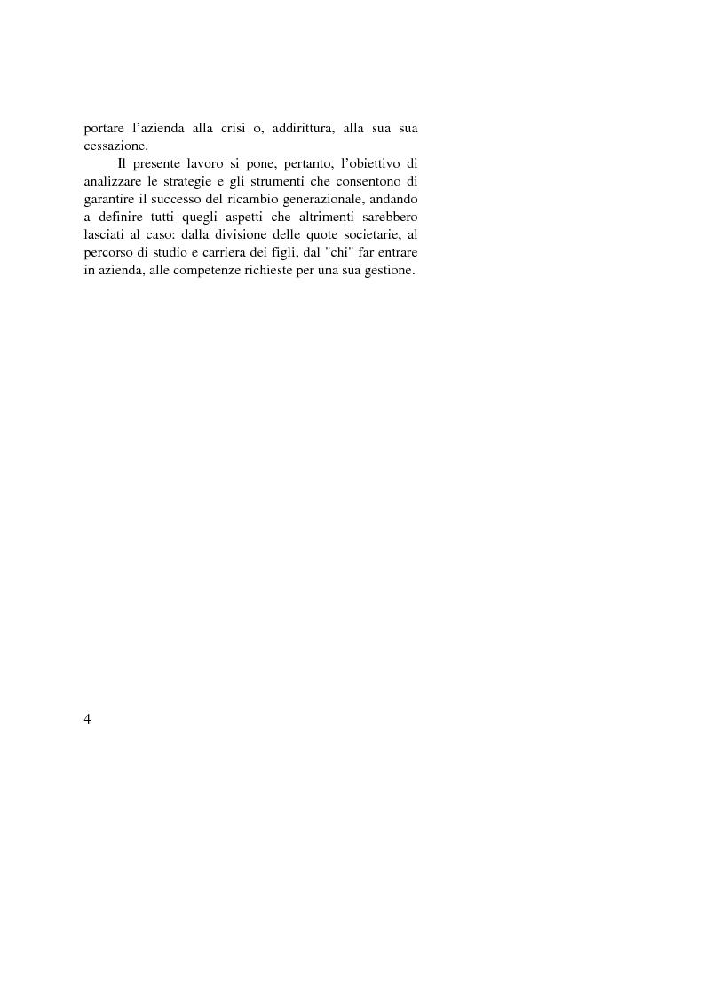 Anteprima della tesi: Il passaggio generazionale nel family business. Strumenti tecnico-giuridici e finanziari, Pagina 2