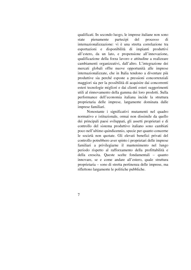 Anteprima della tesi: Il passaggio generazionale nel family business. Strumenti tecnico-giuridici e finanziari, Pagina 5