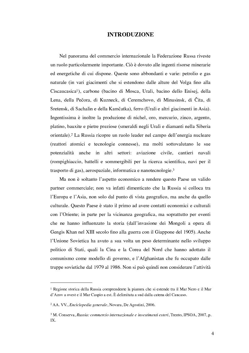 Anteprima della tesi: Diritto commerciale russo: analisi sincronica e diacronica, Pagina 1