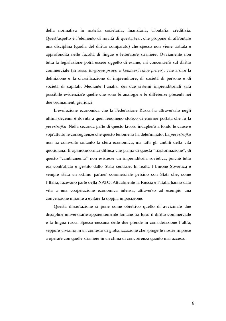 Anteprima della tesi: Diritto commerciale russo: analisi sincronica e diacronica, Pagina 3
