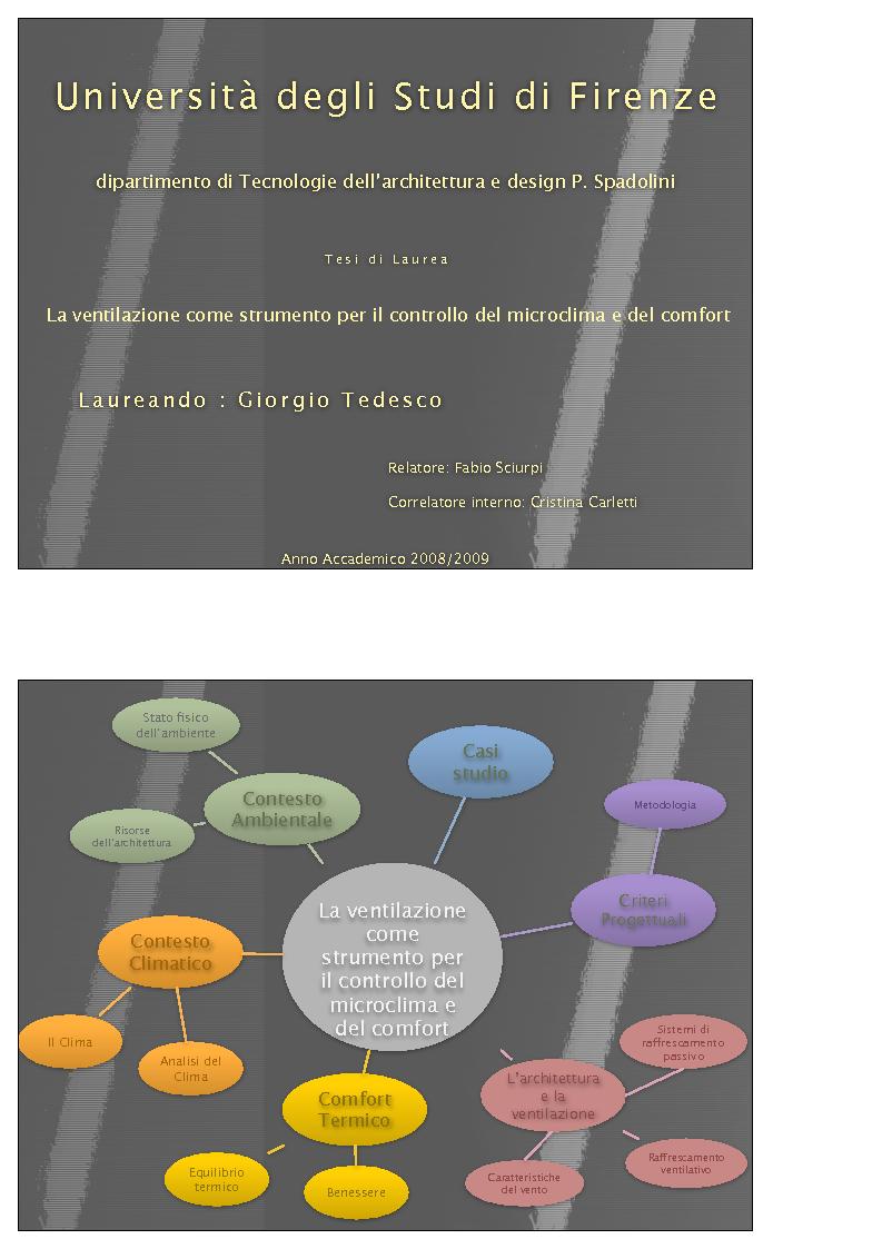 Anteprima della tesi: La ventilazione come strumento per il controllo del microclima e del comfort, Pagina 1