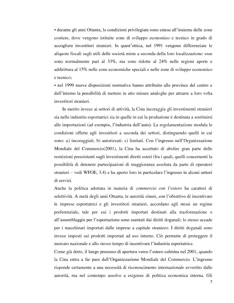 Anteprima della tesi: Lo sviluppo economico cinese: opportunità per le imprese italiane, Pagina 5