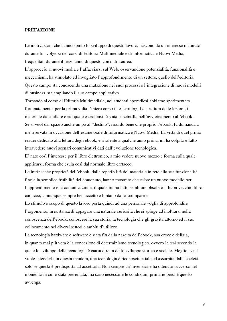 Anteprima della tesi: Fenomeno ebook: dall'editoria tradizionale alla pubblicazione digitale, Pagina 1