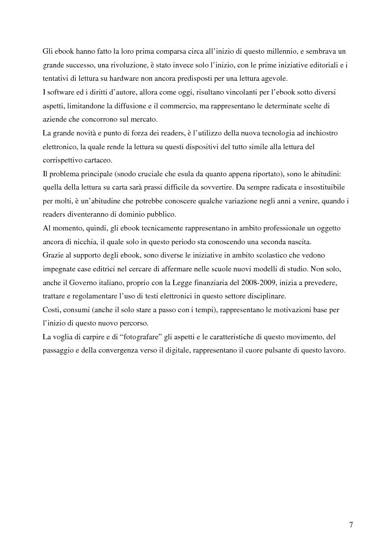 Anteprima della tesi: Fenomeno ebook: dall'editoria tradizionale alla pubblicazione digitale, Pagina 2