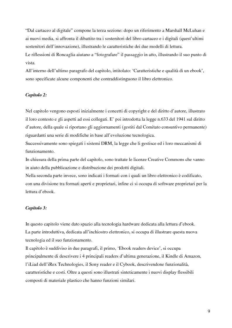Anteprima della tesi: Fenomeno ebook: dall'editoria tradizionale alla pubblicazione digitale, Pagina 4