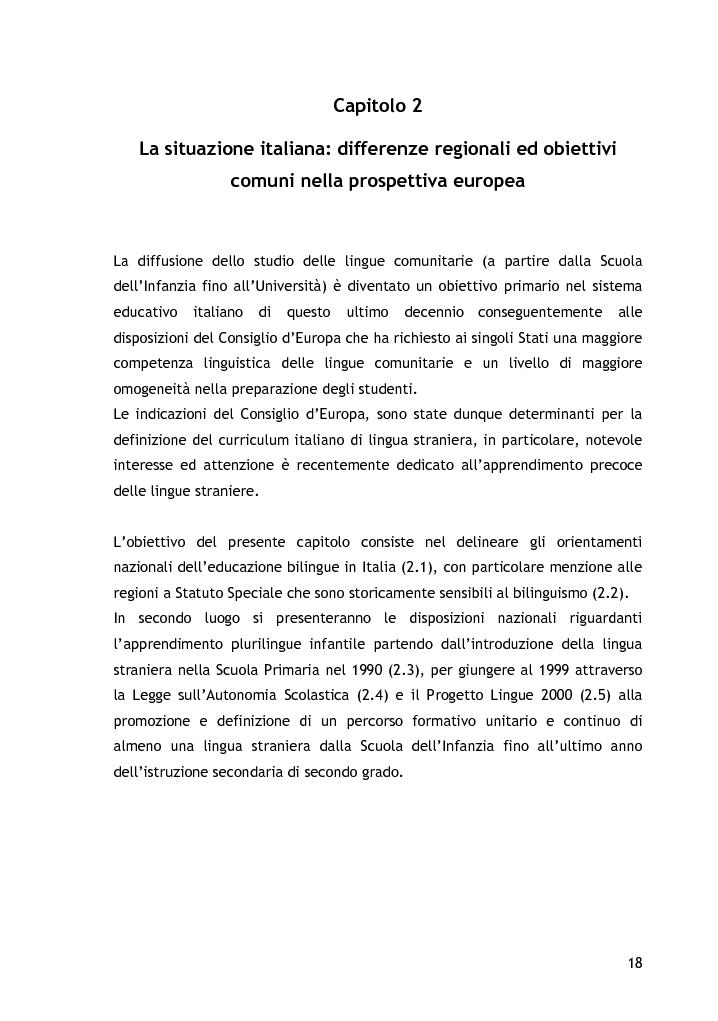 Anteprima della tesi: L'approccio alla lingua straniera nella scuola dell'infanzia: l'esperienza raccontata attraverso il diario di bordo, Pagina 8