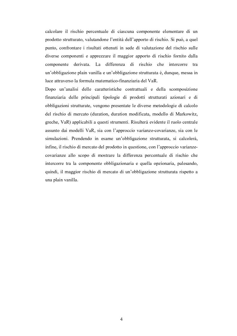 Anteprima della tesi: Metodologie di calcolo del rischio di mercato dei prodotti strutturati, Pagina 2