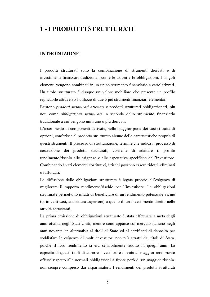Anteprima della tesi: Metodologie di calcolo del rischio di mercato dei prodotti strutturati, Pagina 3