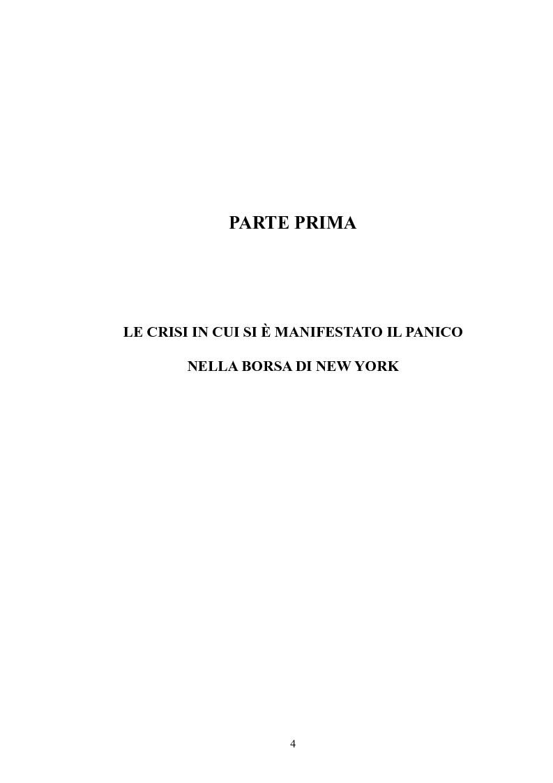Anteprima della tesi: Il Panic Selling. Dinamiche dei momenti di panico finanziario, Pagina 4