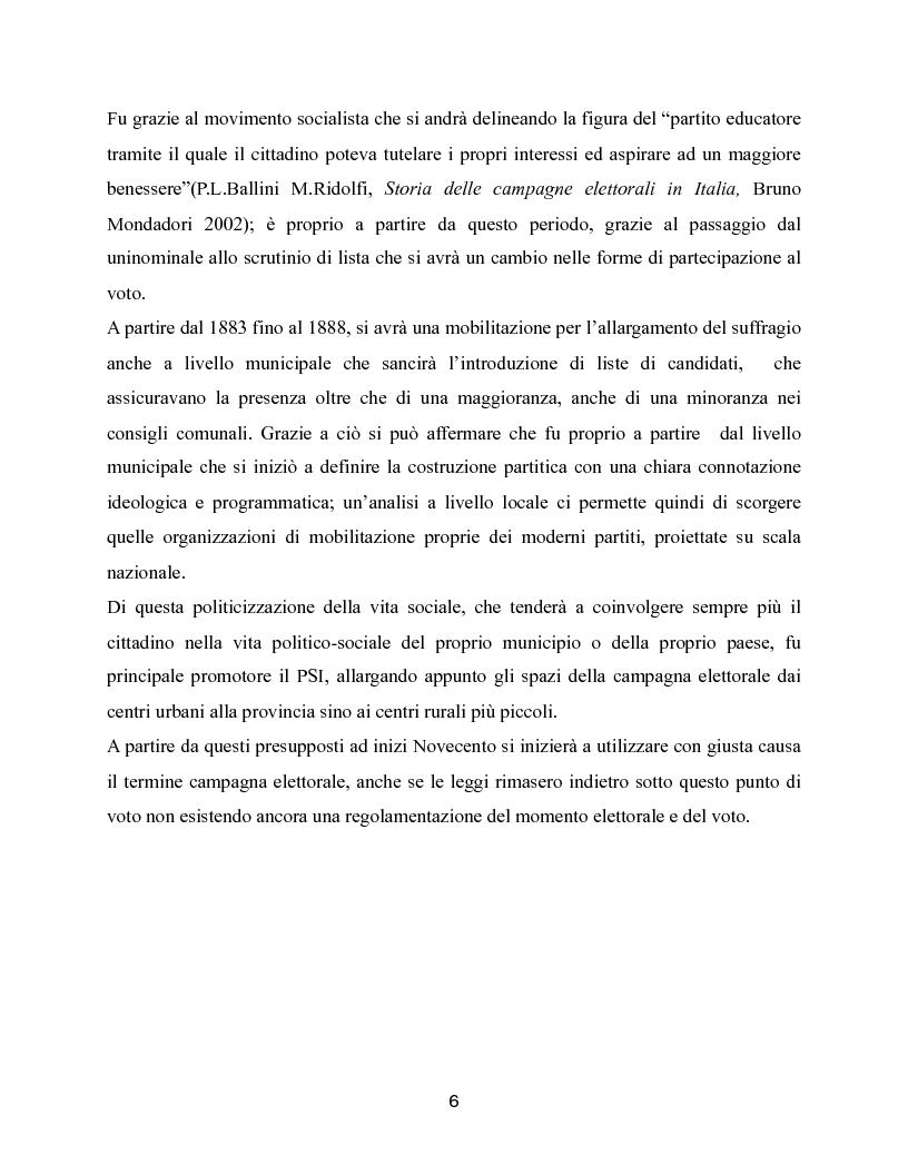 Anteprima della tesi: Trasformazioni delle campagne elettorali in Italia, Pagina 3