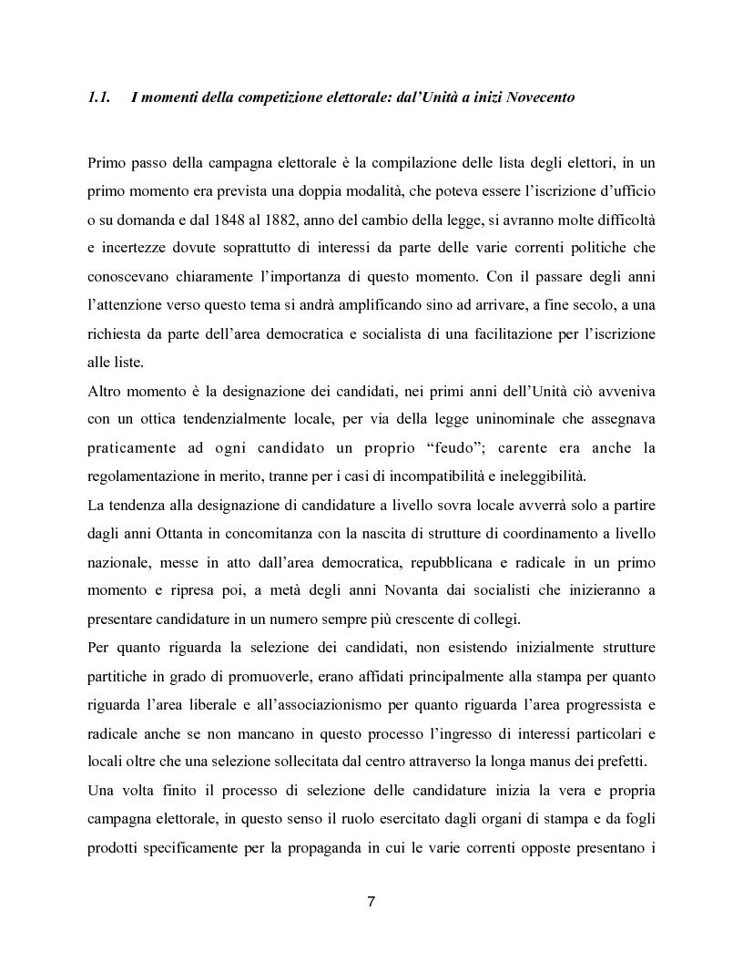 Anteprima della tesi: Trasformazioni delle campagne elettorali in Italia, Pagina 4