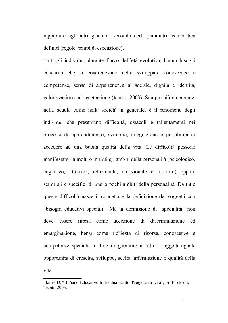 Anteprima della tesi: L'integrazione degli alunni diversamente abili attraverso l'educazione motoria nella Scuola Primaria: strategie didattico-educative, Pagina 4
