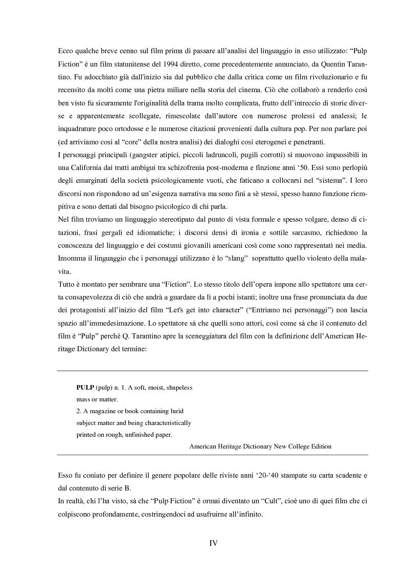 """Anteprima della tesi: Strategie e funzioni della traduzione cinematografica di un """"cult movie"""", Pagina 2"""