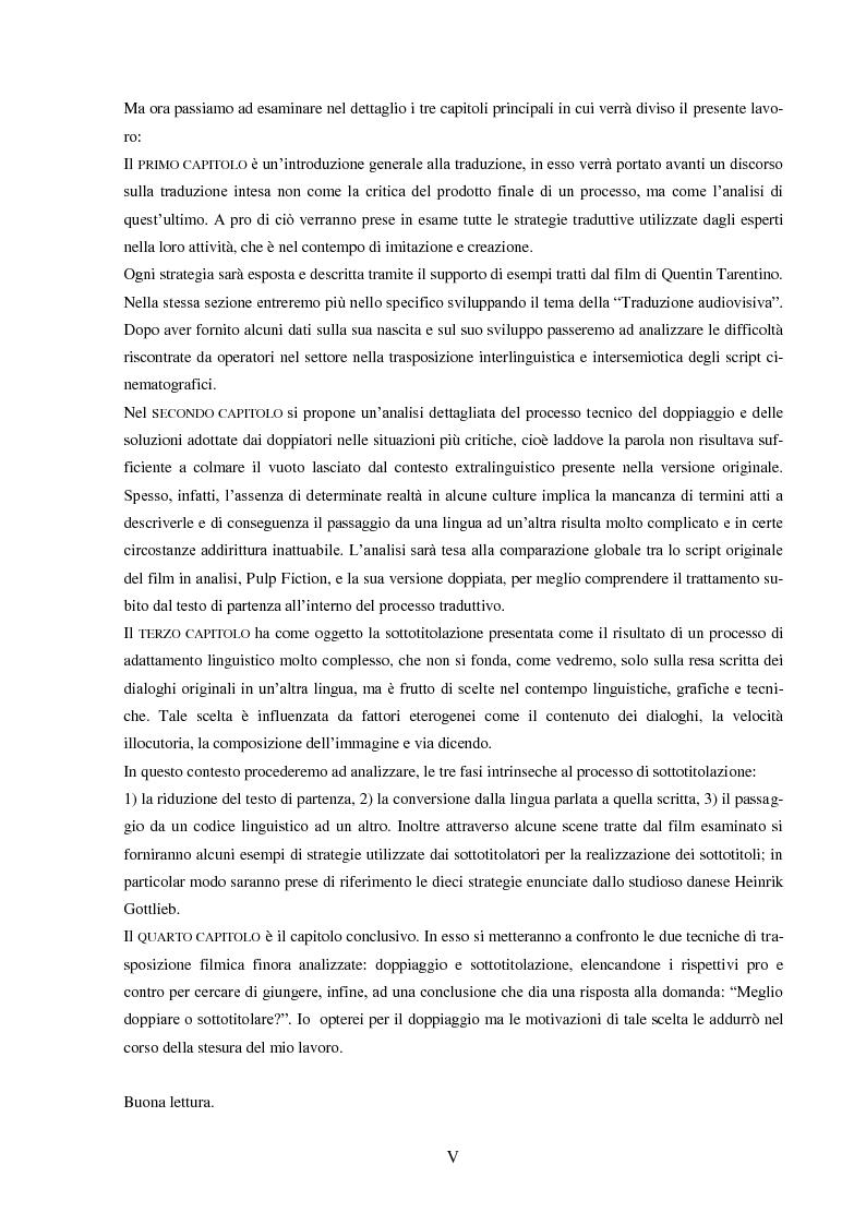 """Anteprima della tesi: Strategie e funzioni della traduzione cinematografica di un """"cult movie"""", Pagina 3"""