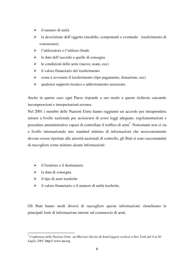 Anteprima della tesi: Il ruolo dell'Italia nel commercio internazionale di armi, Pagina 5