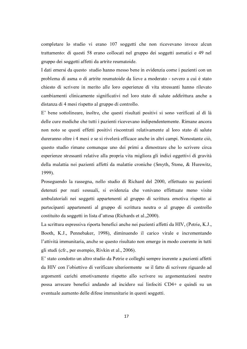 Anteprima della tesi: Scrittura espressiva e crescita post-traumatica in pazienti cardiopatici, Pagina 12
