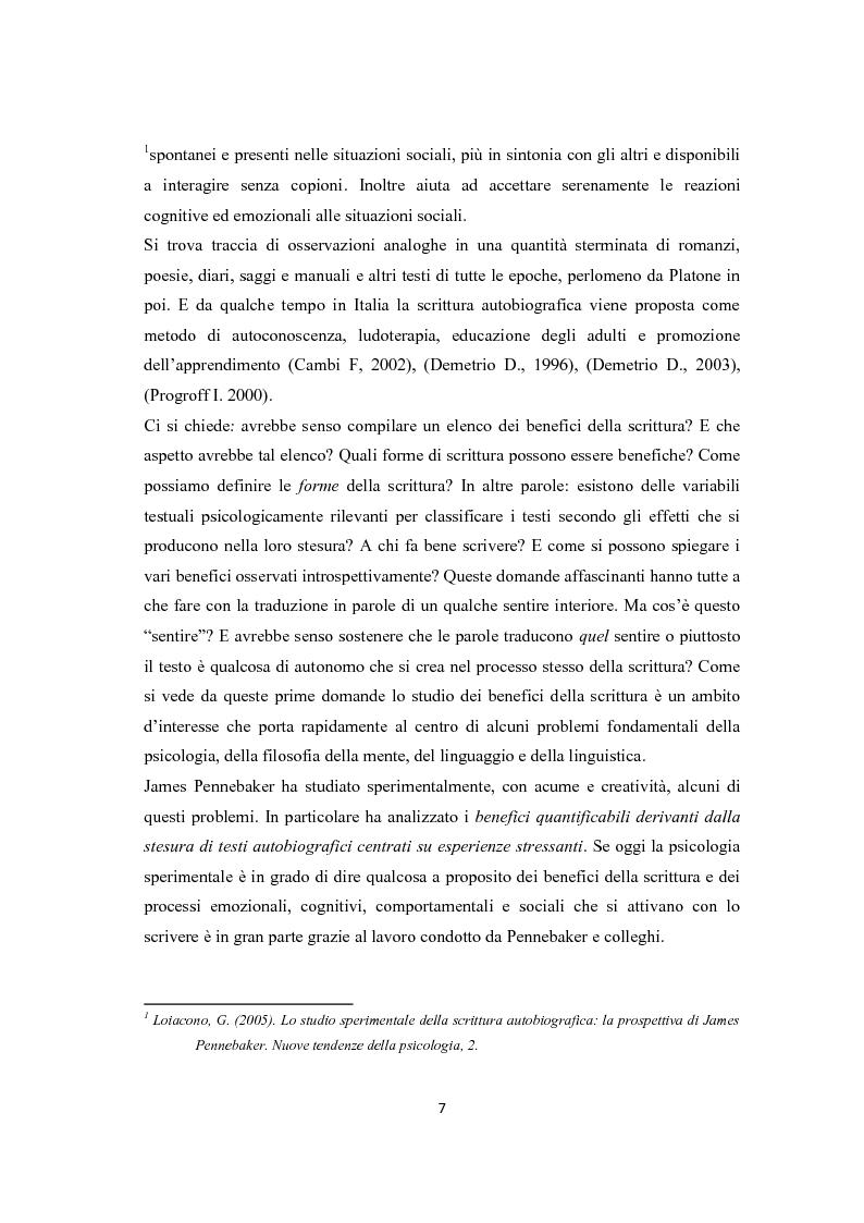 Anteprima della tesi: Scrittura espressiva e crescita post-traumatica in pazienti cardiopatici, Pagina 2