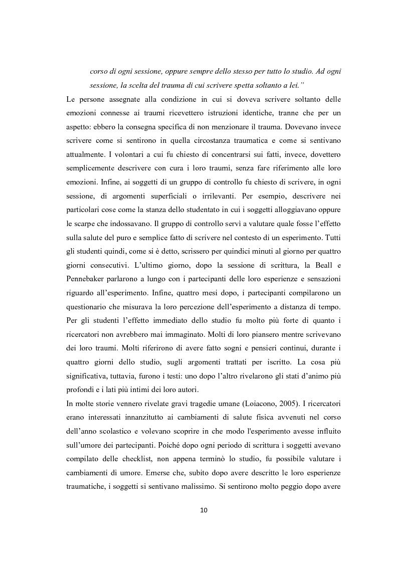 Anteprima della tesi: Scrittura espressiva e crescita post-traumatica in pazienti cardiopatici, Pagina 5