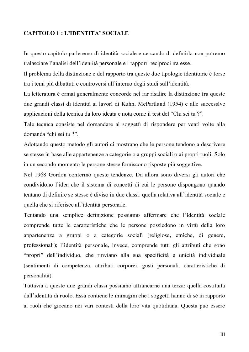 Anteprima della tesi: La dimensione etnica dell'identità sociale attraverso il contributo di Fethi Benslama, Pagina 3