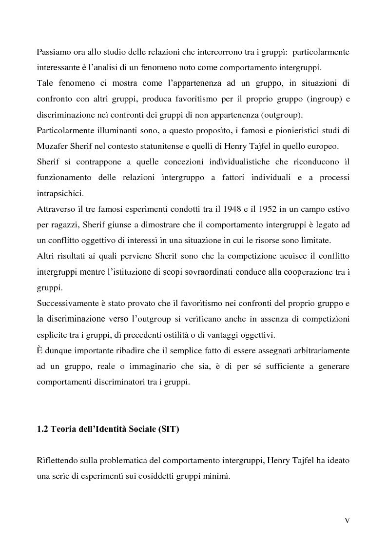 Anteprima della tesi: La dimensione etnica dell'identità sociale attraverso il contributo di Fethi Benslama, Pagina 5