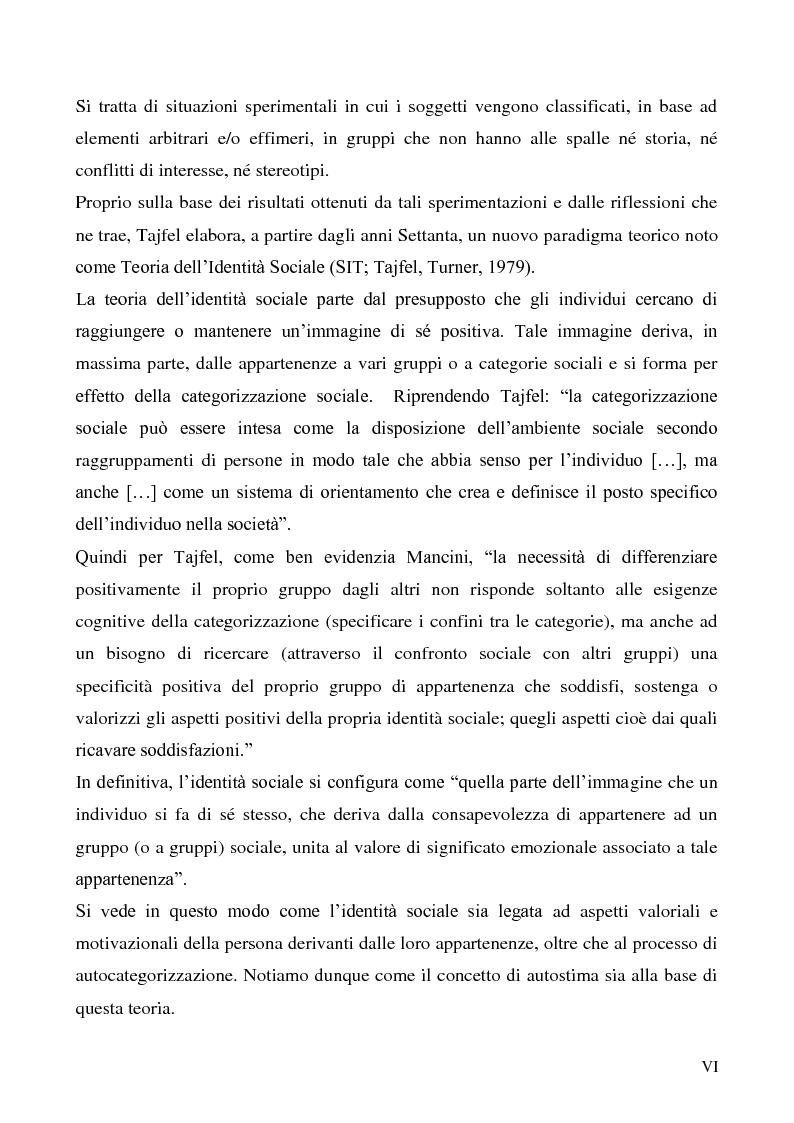 Anteprima della tesi: La dimensione etnica dell'identità sociale attraverso il contributo di Fethi Benslama, Pagina 6