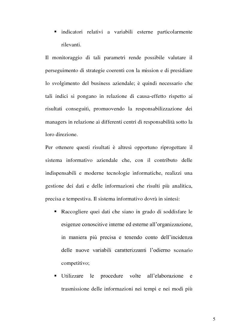 Anteprima della tesi: L'evoluzione dei sistemi informativi e di controllo aziendali, Pagina 5