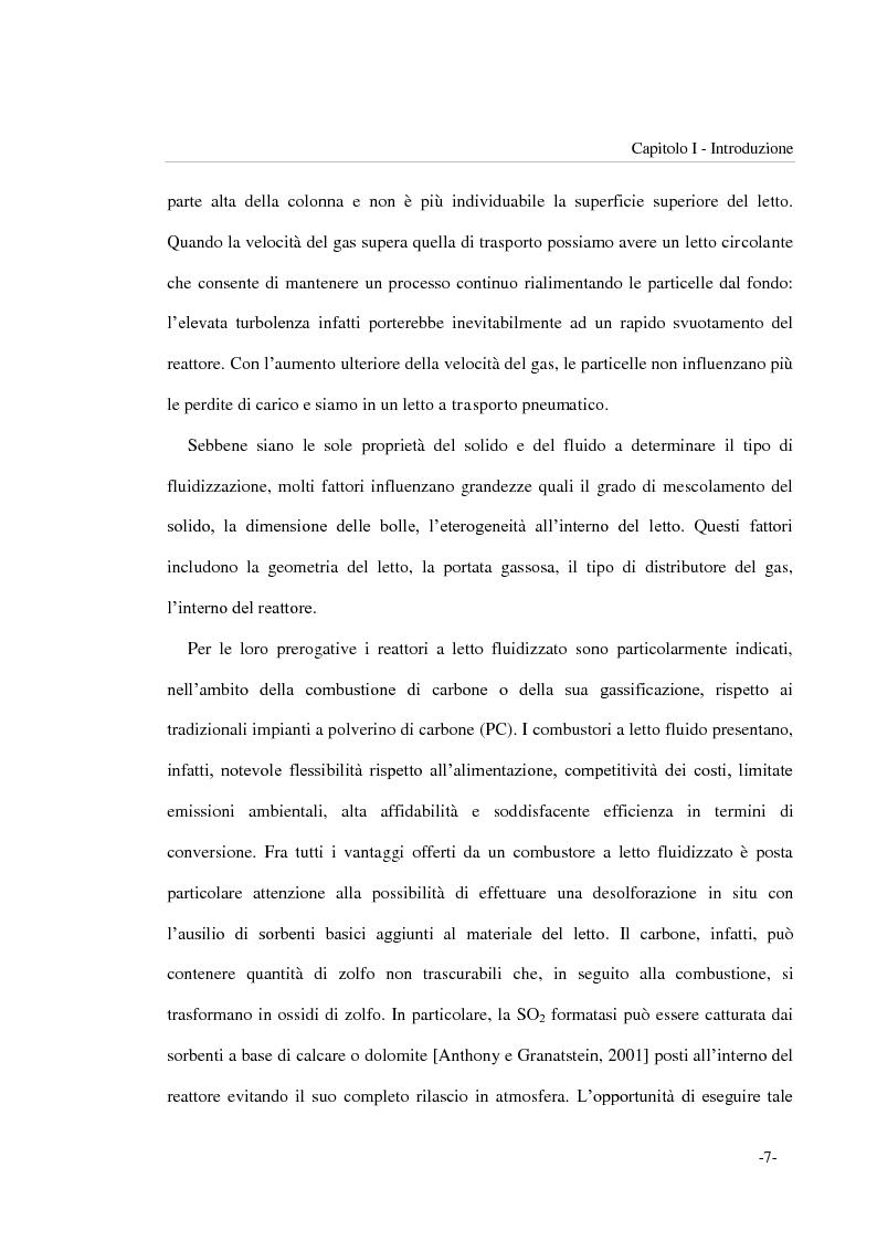 Anteprima della tesi: Frammentazione per impatto di particelle di sorbente riattivato impiegato per la desolforazione in situ in combustori a letto fluidizzato, Pagina 7