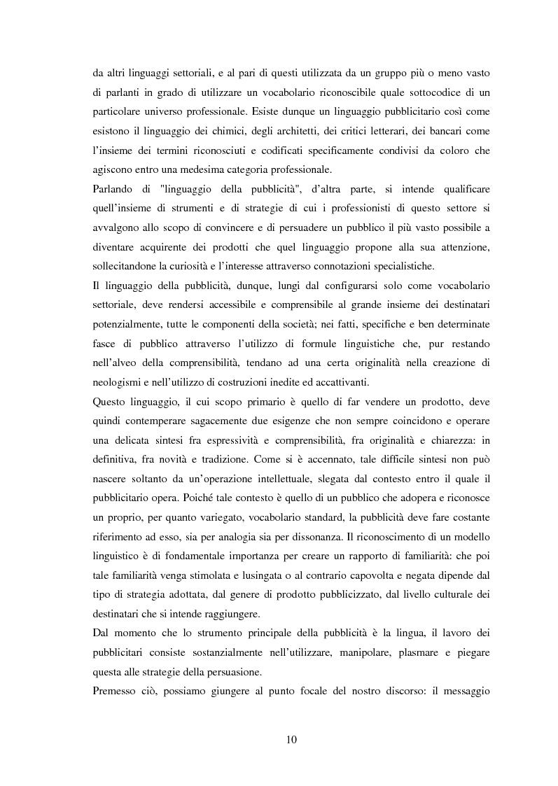 Anteprima della tesi: Ispanismi e ispanoamericanismi nella publicità italiana di oggi, Pagina 4
