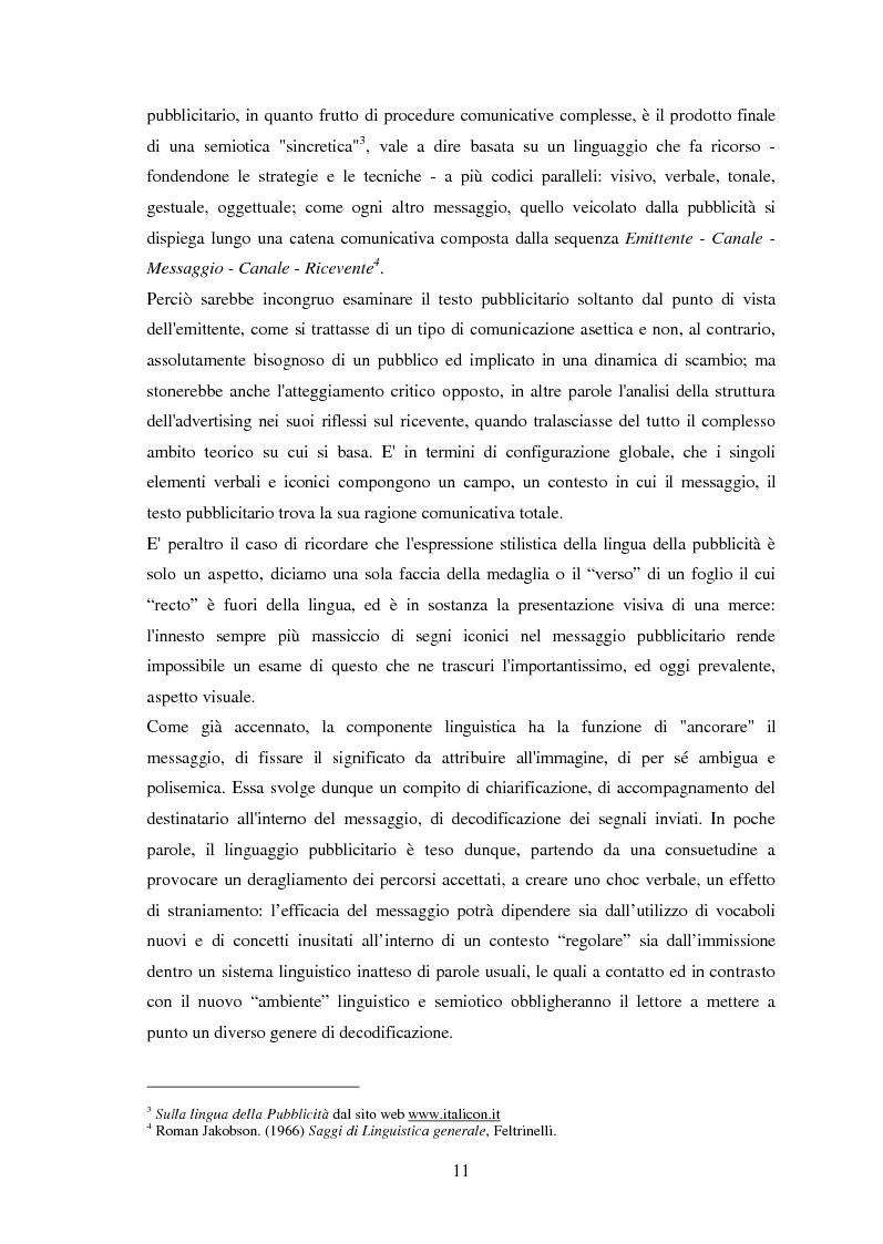 Anteprima della tesi: Ispanismi e ispanoamericanismi nella publicità italiana di oggi, Pagina 5