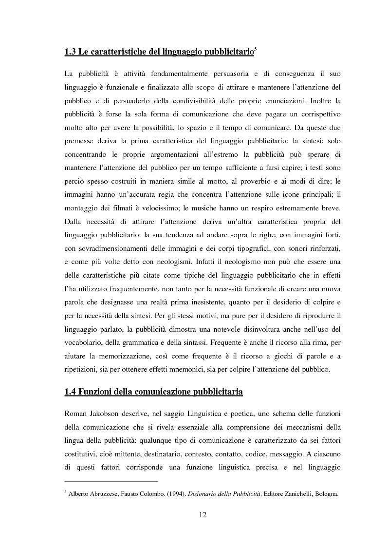 Anteprima della tesi: Ispanismi e ispanoamericanismi nella publicità italiana di oggi, Pagina 6