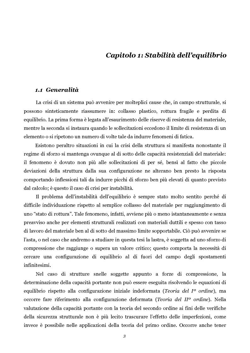 Anteprima della tesi: Influenza della geometria di flange e irrigidimenti sulla stabilità delle anime di travi da ponte, Pagina 3