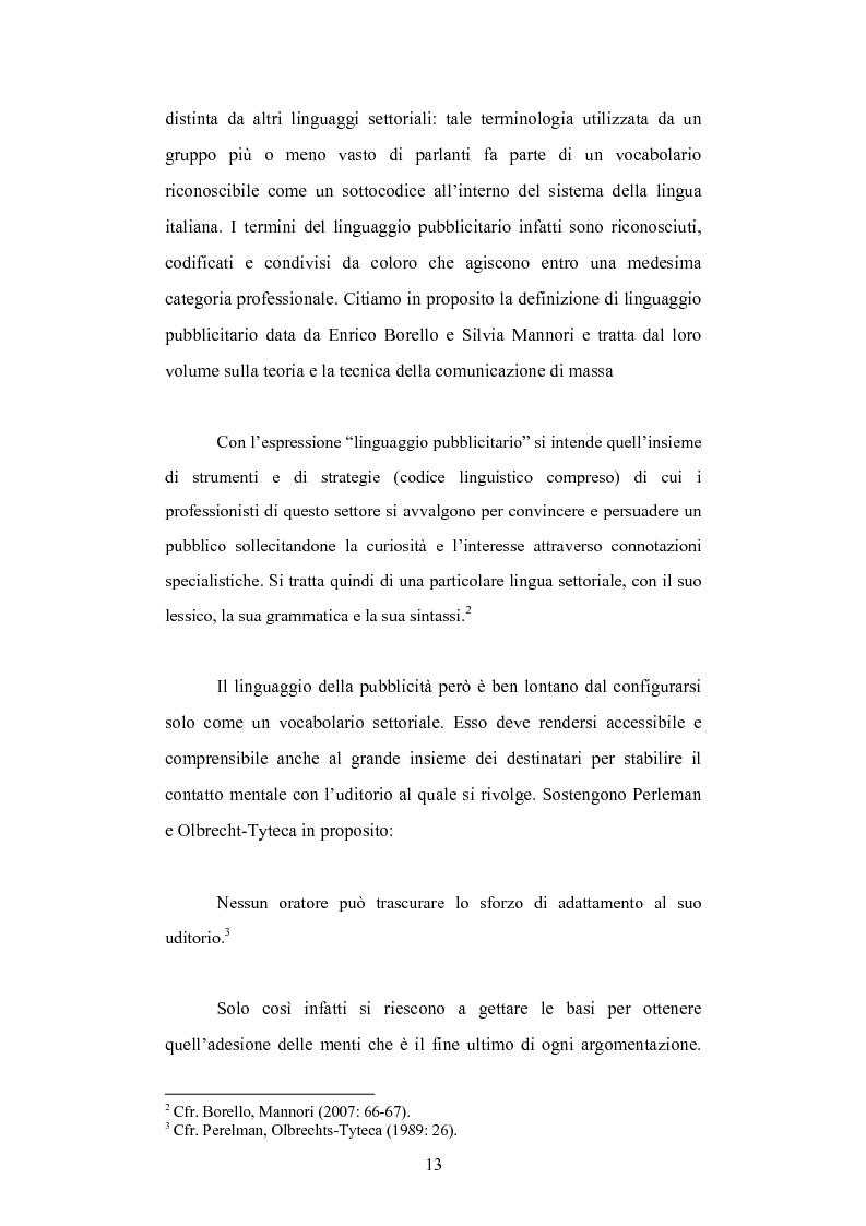 Anteprima della tesi: Strategie linguistiche e retoriche della comunicazione pubblicitaria rivolta ai bambini, Pagina 7