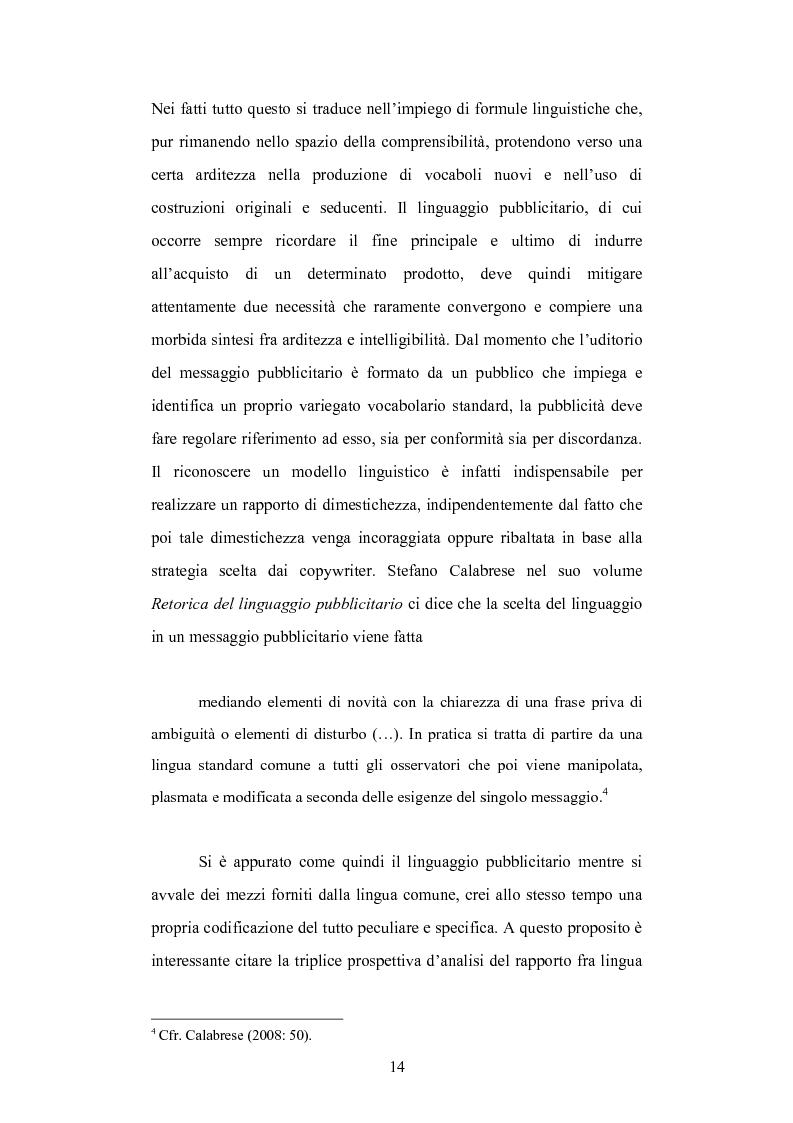 Anteprima della tesi: Strategie linguistiche e retoriche della comunicazione pubblicitaria rivolta ai bambini, Pagina 8