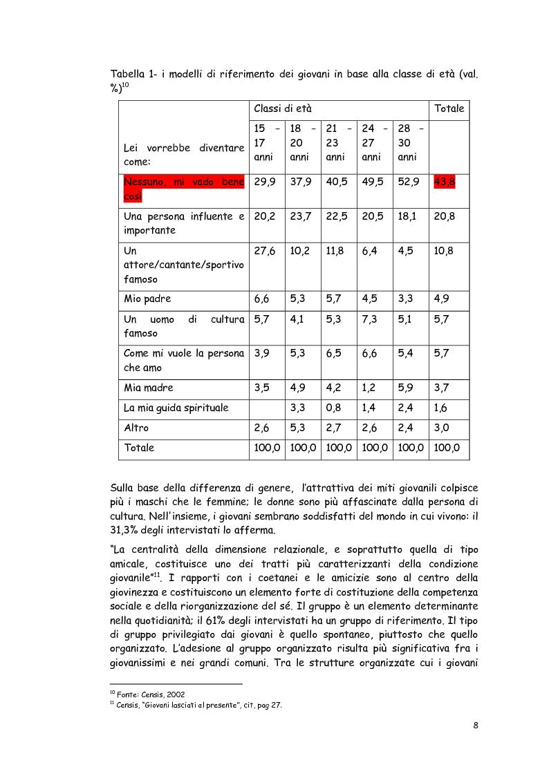 Anteprima della tesi: Le politiche giovanili: per i giovani e con i giovani, Pagina 3