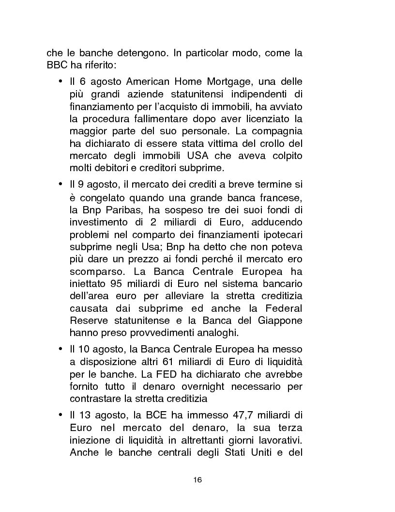 Anteprima della tesi: Cause, conseguenze e primi rimedi dell'attuale crisi finanziaria, Pagina 11