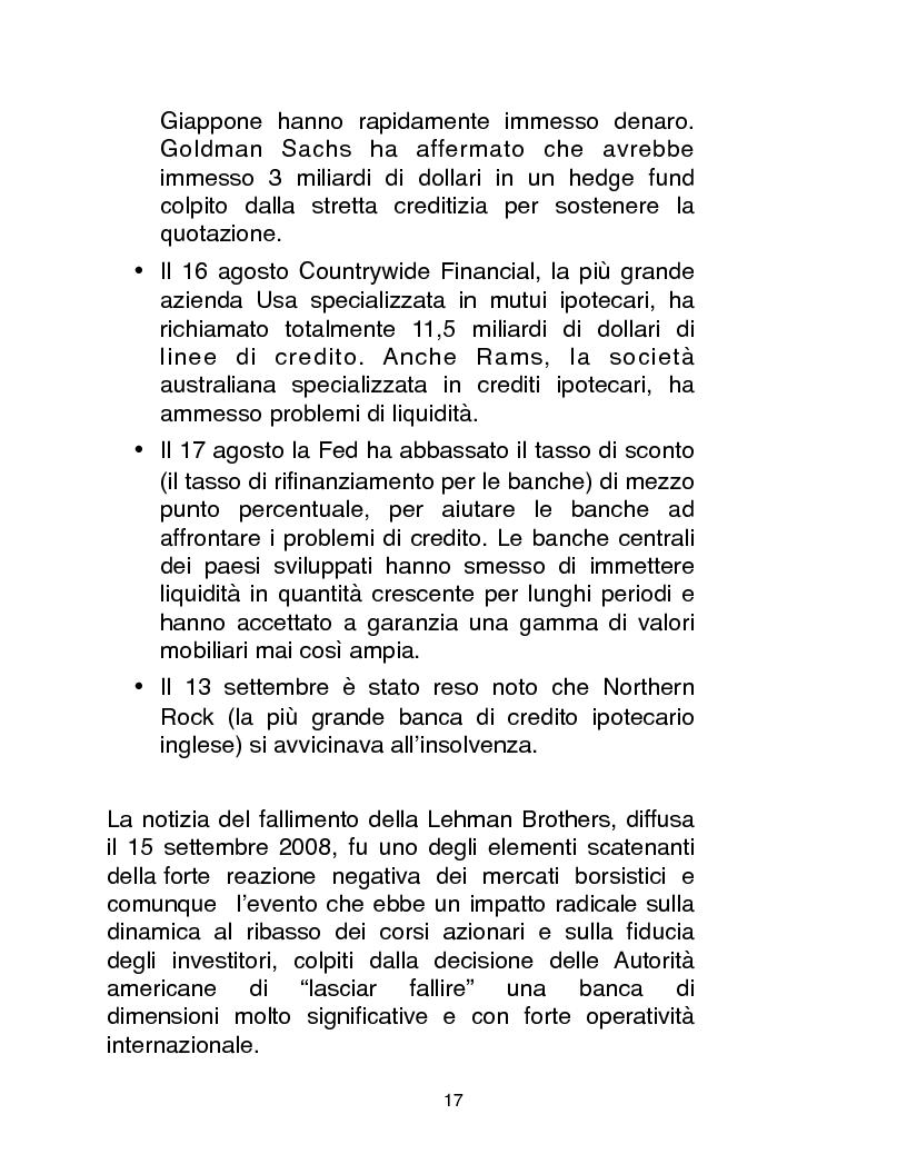 Anteprima della tesi: Cause, conseguenze e primi rimedi dell'attuale crisi finanziaria, Pagina 12