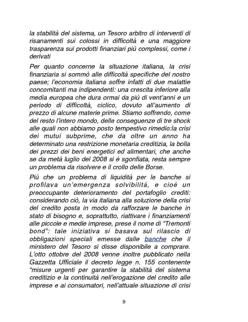 Anteprima della tesi: Cause, conseguenze e primi rimedi dell'attuale crisi finanziaria, Pagina 4