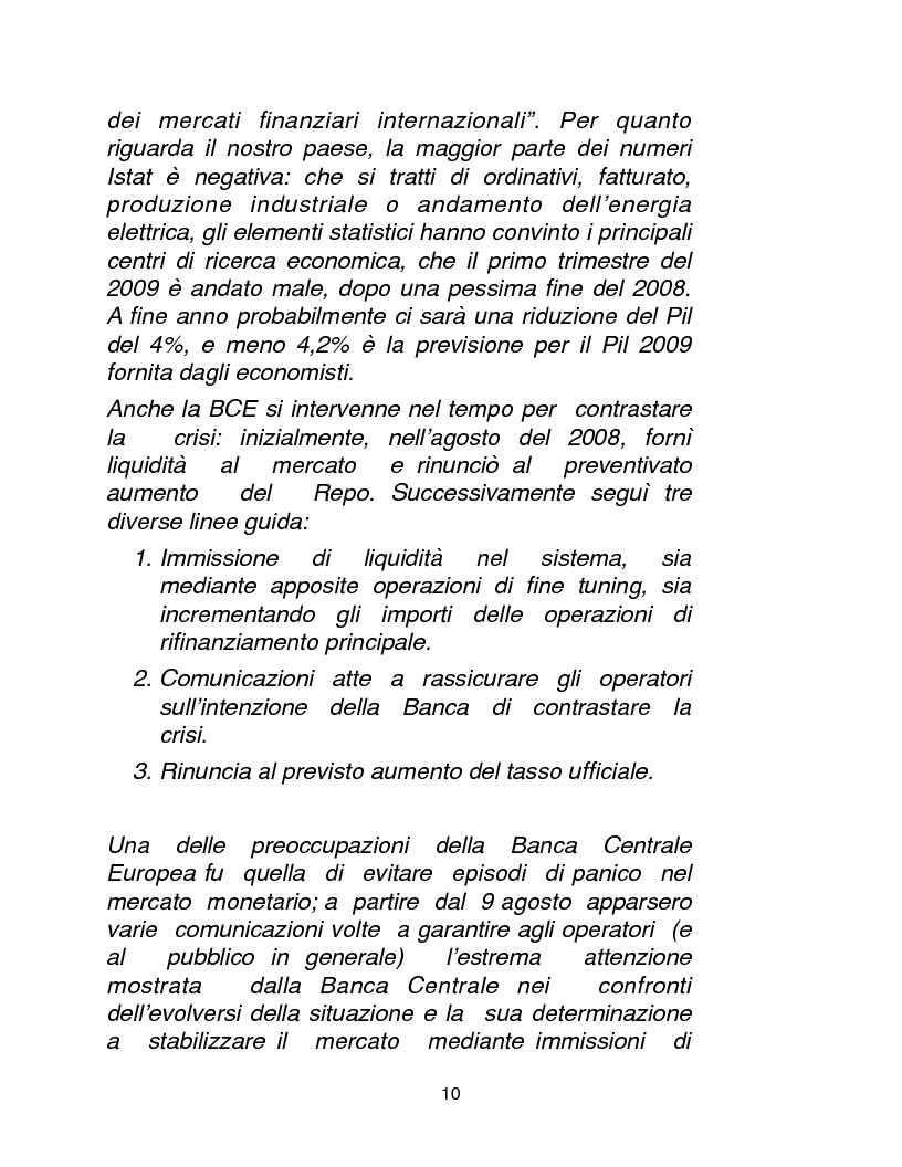 Anteprima della tesi: Cause, conseguenze e primi rimedi dell'attuale crisi finanziaria, Pagina 5