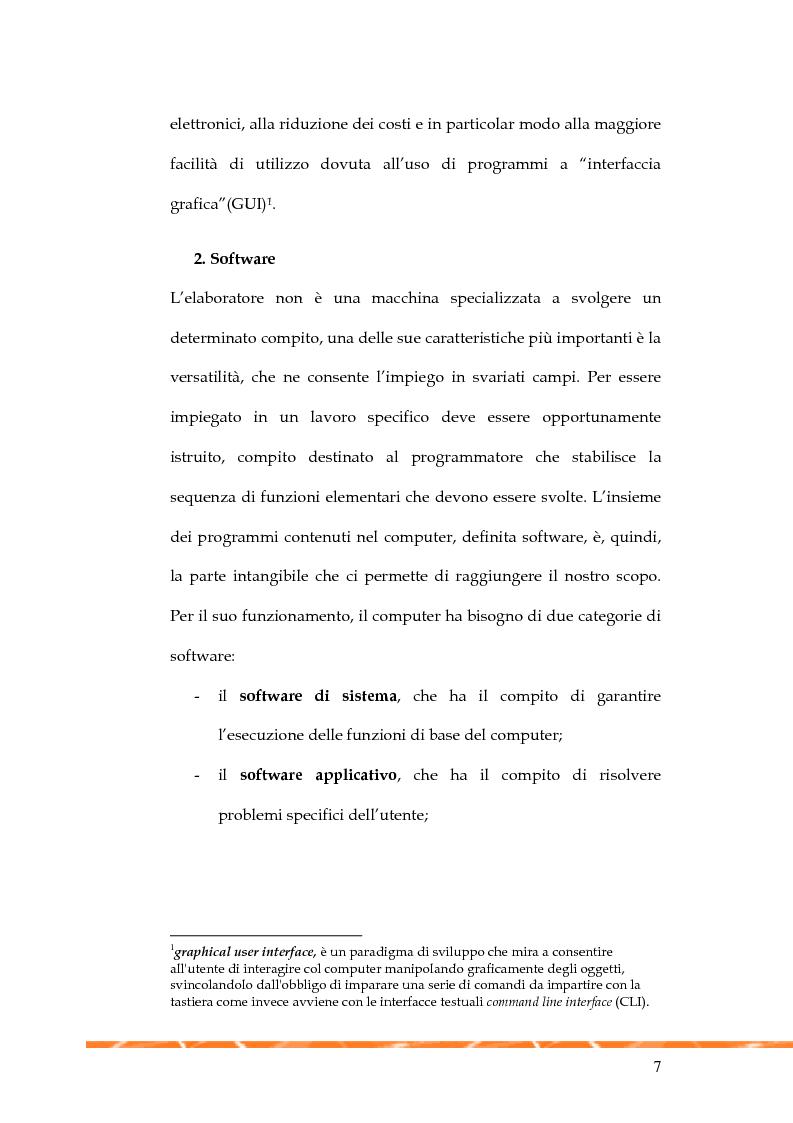 Anteprima della tesi: Informatica e multimedialità nella presentazione di eventi, Pagina 6