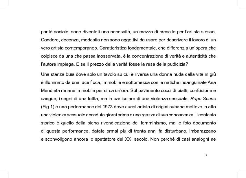 Anteprima della tesi: La perdita del pudore nell'arte contemporanea, Pagina 3