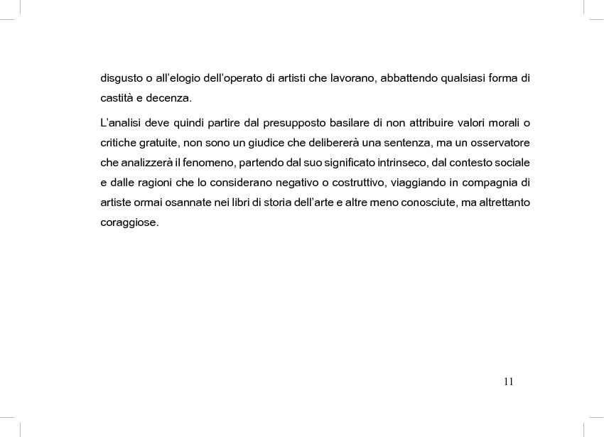 Anteprima della tesi: La perdita del pudore nell'arte contemporanea, Pagina 7